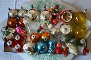 Konvolut alter Christbaumschmuck Weihnachtsbaumkugeln DDR Glocken Pilze Zapfen