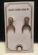 Alex and Ani Earrings - New on Card Dangle/with posts - Rose Gold; NO BOX