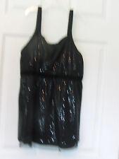 Justice for Girls sleeveless tank dressy with sequins, velvet Black Size 18 SALE