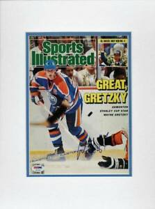 Oilers Wayne Gretzky Authentic Signed & Matted Magazine Cover PSA/DNA #T41049