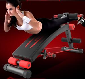 Sit Up Bank Trainingsbänder Rückentrainer Fitness Bank Bauchtrainer Schwarz Rot