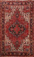 Excellent Vintage Wool Traditional Area Rug Oriental Hand-Knotted RED Carpet 6x9