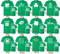 Customized St. Patricks Day T Shirts Text Custom Name Number St Patty Irish Day