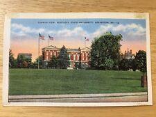 Vintage Campus View Kentucky State University Unused Linen Postcard - Lexington