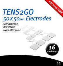 16 Autoadhesivo Electrodo almohadillas para RTE & EMS – alta calidad el marcado CE 50x50mm