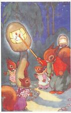 POSTCARD  CHILDREN   SQUIRREL   Related    Lighting  Up  Time