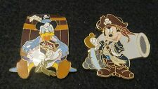 MICKEY MOUSE & DONALD DUCK FROM PIRATES OF THE CARIBBEAN LANYARD/PIN STARTER SET
