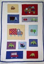 Pottery Barn Kids Cars Trucks Helicopter Toddler Bed Quilt Boys Transportation