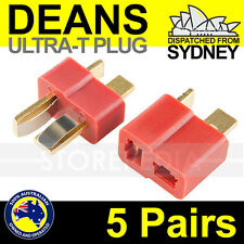 5 Pairs DEANS ULTRA T Style Plug Connector Dean RC Lipo ESC Battery