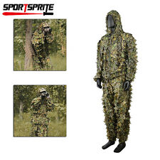 Leaf Ghillie Suit Woodland Camo Camouflage Clothing 3D jungle Hunting XXL