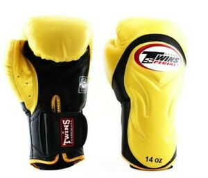 Twins Special Boxing Gloves BGVL-6 Black/Gold 16 oz Express Delivery