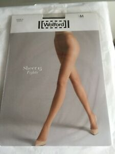 Wolford Sheer 15 in Black Tights Medium BNIP perfect condition