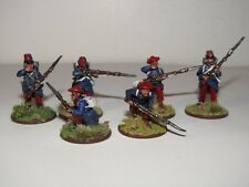 28mm PERRY METAL FOREIGN LEGION COLONIAL PERIOD X 6 PAINTED