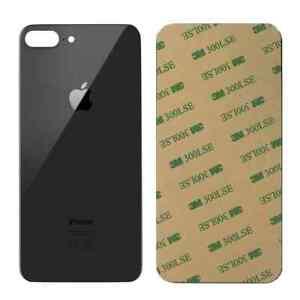 Vitre arriere iPhone 8 Plus Noir - Avec logo + Adhesif
