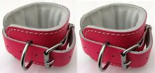 NEW GYM ANKLE Straps Leather PINK Ankle Strap Gym Machine Attachment 1 PAIR