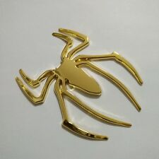 2PC Car 3d Logo Metal Spider Golden Emblem Badge Sticker Self Adhesive Badge