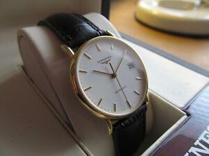 Longines Presence 18K Gold Automatic Dress Watch.
