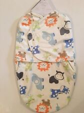 Sterling Baby Boy Swaddle Blanket Bag Size 0-6 Months Ivory Animal Safari Layett