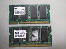 3 GENUINE SAMSUNG LAPTOP MEMORY RAM PC2100S-25330-A0 DDR PC2100 CL2.5 256 MB