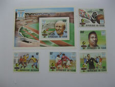 Chad 1978  World Cup football   SC#359-363,364   overpinted in silver
