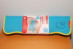 Skip Hop Moby Bath Bathtub Elbow Rest Foam Padded Suction Tub Pocket New