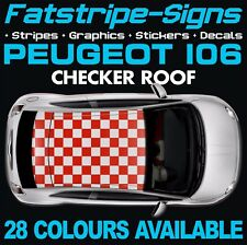 PEUGEOT 106 CHECKER ROOF GRAPHICS STRIPES DECALS STICKERS PUG GTI 1.1 1.2 1.4 D