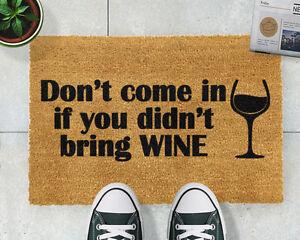 Without Wine Doormat