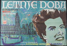 SUMMERTIME David Lean Katharine Hepburn 1955 ORIGINAL YUGOSLAVIAN MOVIE POSTER