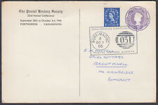 1973 uprated 3d Emb. Stationery Card Postal History Society;Port-Madoc SHS;Wales