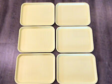 LOT Of 6 Vintage Le Bean Products Yellow Restaurant Cafeteria Serving Trays