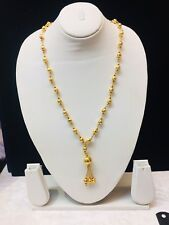 Cheapest Price On Ebay Indian Gold Plated Long Necklace Chain Moti Bollywood New