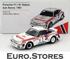 Porsche Resin Diecast Rally Cars