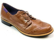 WOMENS RED OR DEAD ROSIE BROWN LEATHER BROGUES SMART SHOES SIZE 5 & 6 ODD PAIR