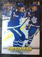 UPPER DECK 2019-2020 SERIES ONE ANDREAS JOHNSSON CANVAS HOCKEY CARD C-3