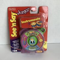 Mattel Fisher Price See N Say Junior Musical Instruments W/ Clip 2001 NOS C8