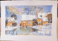 """WATERCOLOUR """"WINDRUSH MILL """"BY TREVOR WHILD"""
