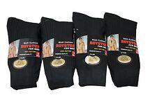 12 Para Hombre 100% Algodón calcetines 6-11 Negro