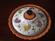 Elegant Hand made, painted  soup dish with lid Angel fish Ephesus Ceramic Turkey