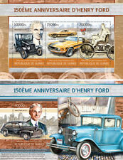 Henry Ford Cars Autos Motor Vehicles Transport Guinea MNH stamp set