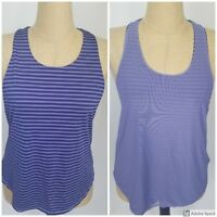 Calia Carrie Underwood Womens Tank Top Medium Purple Reversible Racerback NWT