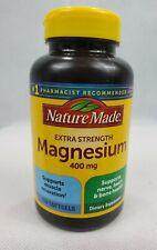 Nature Made Extra Strength Magnesium 400 mg 110 Softgels 06/2022