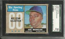1968 Topps #364 Joe Morgan HOF Houston Astros SGC 96 MINT 9 Beautiful Card