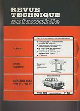(29A) REVUE TECHNIQUE AUTOMOBILE  MERCEDES-BENZ 220D-200D / CITROEN GS 1015 CM3