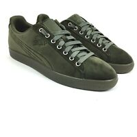 Puma Clyde Velour Ice Mens Size 10 Green Casual Sneakers