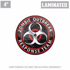 "1 Custom Thick Laminated Glossy 4"" 3M Premium Decal Sticker ZOMBIE OUTBREAK RW"