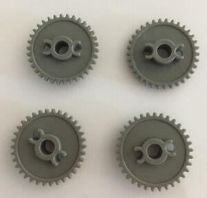 "4 Standard Knex Gears 1-1/4 Inch Silver Gray Large Center Hole 1.25"" K'nex Parts"