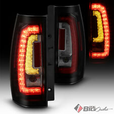 For 07-14 Tahoe/Suburban (Verson 2) Black Smoked LED Tail Lights w/ LED Signal
