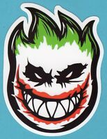2 Large Spitfire, Joker, Vinyl Stickers
