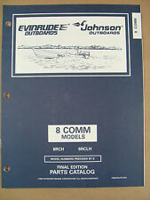 1996 Omc Johnson Evinrude Ed 8 Hp Commercial Outboard Motor Parts Catalog 438190