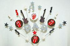 Band nome, età, musica, Rolling Stone Logo (Qualsiasi Logo) COMPLEANNO CAKE TOPPER